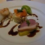 インディゴヴァンガレン - 本日の肉料理とロール寿司のセット(税込み1728円)の前菜
