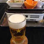 焼肉 喜笑 - 生ビール¥500