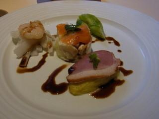 INDIGO85 - 本日の肉料理とロール寿司のセット(税込み1728円)の前菜