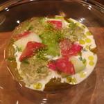 トゥールモンド - 前菜 メロン、きゅうり、冬瓜 三種の瓜