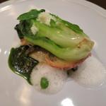 トゥールモンド - 前菜 エゾアワビ、エスカルゴ、サラダ菜