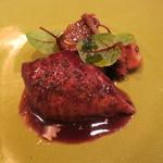 トゥールモンド - 肉料理 小鳩のロテイ ソースサルミ 実山椒のエッセンス