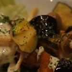barco - 野菜もナス、カボチャ、レタス、シメジ等色とりどり。