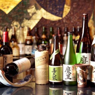 九州の美食には、九州の地酒やプレミア焼酎などの美酒を添えて