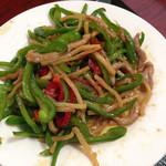 台湾料理 嘉宴楼 - ご飯を食べ終えた後の青椒肉絲