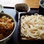 28893725 - かき揚げ天丼セット(うどん)1000円