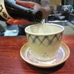 土日庵 - 「冷酒」はこのようなスタイルで