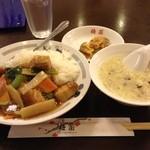 梅蘭 - 2014, June ランチの豚バラかけご飯 820円税込