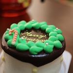 カフェ 太陽ノ塔 - 2013のクリスマスケーキ。これにアイシングクッキーを自分でデコレーションするのですが・・・