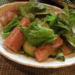 カフェ マザーズキッチン - 2014.06 野菜ワイン会 ルパーブとズッキーニとレタスのサラダ