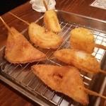 串カツのぼんちゃん - 串揚げ 山いも、玉ねぎ、ハムカツ