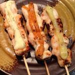鶏や 笹木 - 定番メニュー   わさび、七味、にんにくの3種類