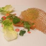レストラン フウ - 前菜:半生サーモンのサラダ仕立
