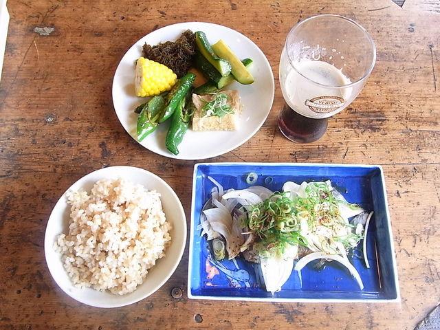 食堂 南風楽天 - 本日のランチ・鰹のタタキ¥900☆♪