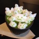 茶寮翠泉 - まろ濃い抹茶オレ【3Dラテアート】