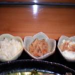桜座蔵 - ポテサラ、切り干し大根、自家製おぼろ豆腐