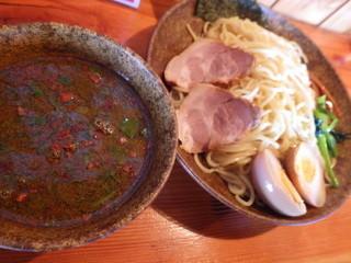 はぐるま - 醤油つけ麺:650円(大盛りです)