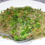 創華飯店 - 春雨とセロリの炒め物