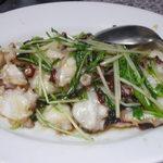 創華飯店 - 蛸の魚醤炒め
