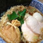 らー麺土俵 鶴嶺峰 - 特製和みラーメン(醤油)850円、極上の旨味スープに、あさっり寄り切られた感じ。
