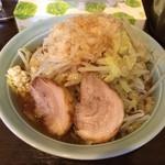 麺や あかつき - あかつき麺 野菜・にんにく・タレ・背アブラ(2014.5)