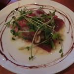 酒の大桝 - 2種類の鮮魚のカルパッチョ680円