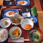 湯倉温泉 鶴亀荘 - 朝食(2005年6月)