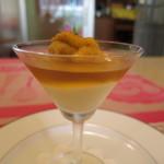 ククセモワ - トウモロコシのソース、コンソメのゼリー、北海道産のウニを添えて
