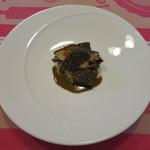 ククセモワ - オーストラリア産 黒トリュフのリゾット、雌貝(メガイ)アワビ、肝ソース