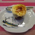ククセモワ - パッションとマンゴーのフルーツパフェ ブラッドオレンジのソルベ、パッションのピューレ、カラメリゼ