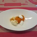 ククセモワ - 長野産 杏のコンポート、マスカルポーネのアイス