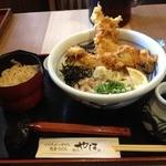 麺匠 やしま - とり天ぶっかけセット(842円)