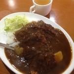 キッチンヨッチ - ハンバーグカレー+串カツ