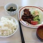 札幌市建設局下水道庁舎食堂 - トンテキ