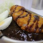 ゴーゴーカレー - 料理写真:ロースかつにゆで卵トッピング