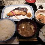 魚久 イートイン あじみせ - 銀鱈 京粕漬定食
