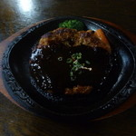 ログレストラン童夢 - 米沢牛入りハンバーグステーキ