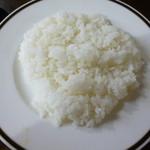 ログレストラン童夢 - ご飯の炊き加減も良し
