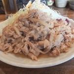 金魚鉢 - 豚のしょうが焼き定食おかず大盛