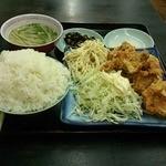 福々亭 - 唐揚げ定食ご飯大盛り 420円