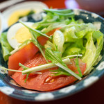 くま乃 - 定食のサラダ