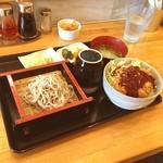 江川食堂 - 料理写真:もりそばとソースカツ丼のセット♪