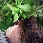 オステリアアルバ - 塩漬け牛肉の柔らか焼き。