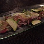 オステリアアルバ - カルパッチョ。その時々の美味しいお魚で。