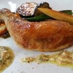 ブラッスリー ハルナ - 鶏もも肉のロースト