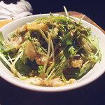 台南担仔麺大王 - 2009年12月 ミミガーサラダ