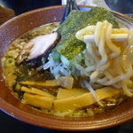 麺屋花形 - こってり醤油太縮麺