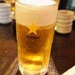 焼とんyaたゆたゆ - 生ビール