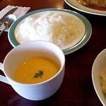 バンマリー - ランチセットのライス&スープ(2014/7)
