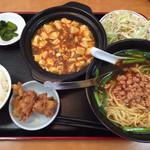 28962219 - 麻婆豆腐ランチ 台湾ラーメン選択